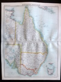 Bartholomew 1922 Large Map. Australia, Eastern Section.